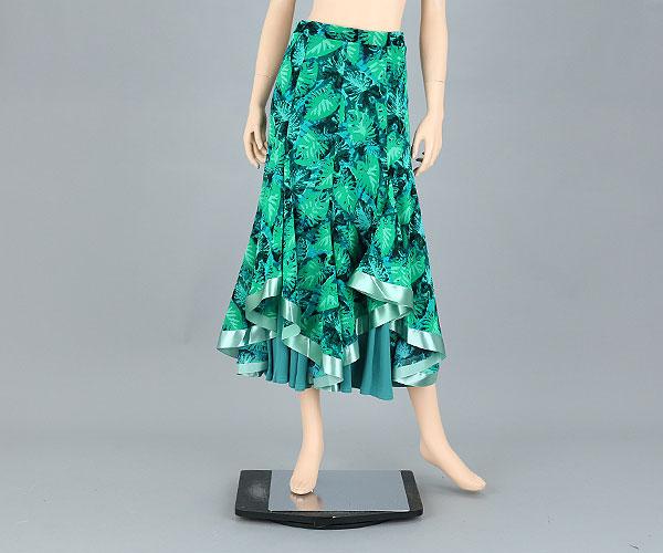社交ダンス☆2枚セットプリントロングスカート